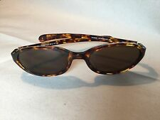 Vintage Fossil Sunwear Capricorn Sunglasses Cat 3 Tortoise Frames Brown Lenses