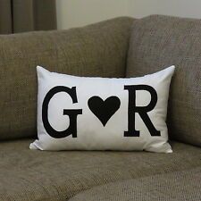 PERSONALISED WEDDING OR ANNIVERSARY GIFT COUPLES CUSHION COVER  - choose colours