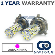 2X XENON PINK H4 120 SMD LED DIPPED BEAM BULBS FOR VOLVO S40 V40 SAAB 9-3