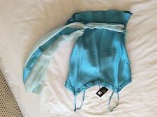 Ladies turquoise Spank top size s