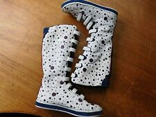 ADIDAS LEATHER LOGO POLKA DOT VELCRO HIGH TOP SNEAKERS SHOES. UK 5 US 6.5. FR 38