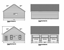 36'x28' -GABLE ROOF DORMERS PLANS 28'X36' PRINT BLUEPRINT PLAN #2836 GABLE 12-8