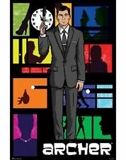 ARCHER STERLING 24x36 poster FX NETWORK ADAM REED COMEDY CARTOON ADULT BRAND NEW