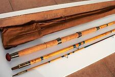 Canne pêche ancienne bambou green heart rod fishing bamboo cane case wood HARDY