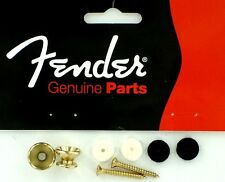 FENDER vintage STRAP Buttons GOLD GANCI SICUREZZA TRACOLLA dorati 0018916049