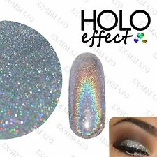 SILVER HOLO LASER MERMAID EFFECT NAIL ART POWDER  GEL & ACRYLIC Holographic UK