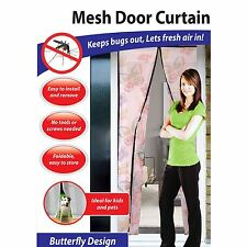 Mesh Door Magic Curtain Magnetic Fly Bug Insect Mosquito Screen Net (Butterfly)