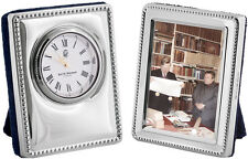 MINIATURE CLOCK AND FRAME SET STERLING SILVER 925 HALLMARKED FROM ARI D NORMAN