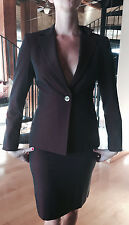 BEBE Women's Burgandy Metallic Fitted Suit - Blazer Sz 4 Pencil Skirt Sz 2 NEW