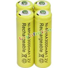 4x AA battery batteries Bulk Nickel Hydride Rechargeable NI-MH 3000mAh 1.2V Yel