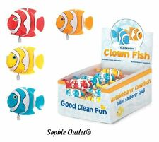 1 x Kids Bath Time Play Wind Up Clockwork Clown Fish Toy Child Party Bag Fillers