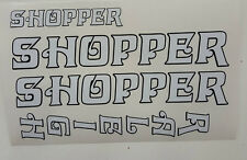 "Raleigh ""SHOPPER"" bike decal/stickers, set of 4"