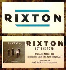 RIXTON Let The Road 2015 Ltd Ed RARE New Sticker +FREE Pop Rock Stickers!