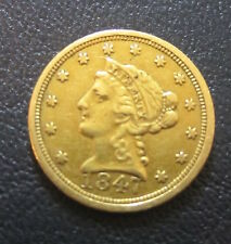 1847 $2.5 $2.50 2 & 1/2 Dollar Quarter Eagle Gold Liberty Head Coin