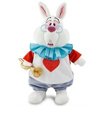 "Disney Authentic Patch White Rabbit Plush Stuffed Animal 15"" Alice in Wonderland"