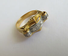 Antik Ring Diamanten Art Deco 750 Gold Platin Diamanten ca.0,45 ct Gr. 54 1930