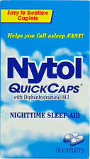 Nytol Nighttime Sleep Aid Quick Capsules 16ct -FREE WORLDWIDE SHIPPING-