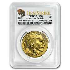 2016 1 oz Gold Buffalo Ms-70 Pcgs (First Strike, Buffalo Label) - Sku #95244