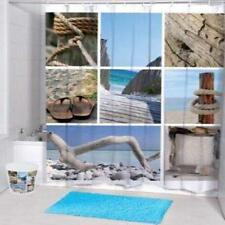 Sea Beach Various Pictures Drift Wood Bathroom Shower Curtain Polyester