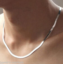 New Men Woman's Stainless Steel 4mm Silver Plating Chain Necklace Jewelry 17.5""