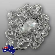 3 x Crystal Diamante Brooch Bouquet Pin / Cake Jewellery