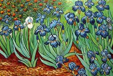 "Van Gogh Replica Oil Painting - Garden Of Irises  - size 36""x24"""