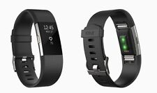 Fitbit Charge 2 Heart Rate & Fitness Activity Tracker Wristband -Large Black NEW