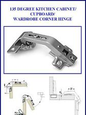(2X) PAIR OF 135 DEGREE KITCHEN CABINET/CUPBOARD/ WARDROBE CORNER HINGE