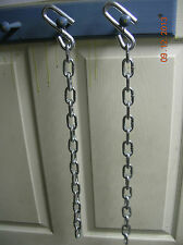 """24"""" trailer safety chains w/ locks on s hooks (2 pcs)  chain for 7,000# trailer"""