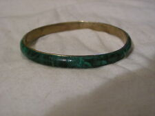 ...Vintage Malachite Gemstone Bangle Bracelet...