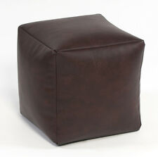 Beanbag cube ready filled bean bag Faux Leather beanbag cube footstool pouffe