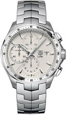 CAT2011.BA0952 NEW TAG HEUER LINK AUTOMATIC CHRONOGRAPH CALIBRE 16 SILVER WATCH