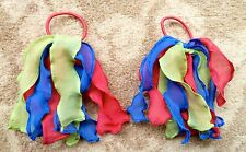 Gymboree Girls HairTie x 2 - Blue, Red and Green, Brand New