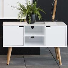 Piccola CREDENZA Bianco Supporto TV unità Storage Cabinet Retrò Vintage Casa Arredamento