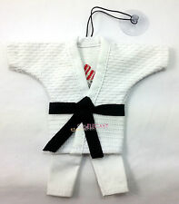 Adidas Judo Uniform Cotton Martial Arts Miniature String Keychain Suction White