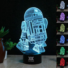 R2-D2 3D Touch Control Night Light 7 Colors Change LED Desk Table Lamp Gifts OEM