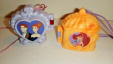 Vintage Polly Pocket Anastasia & Hercules Houses Compacts