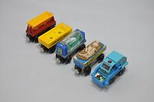 Set of 5 Thomas wooden trains : RUBBISH TRUCK, FOSSIL CAR, HONEY BARREL CAR etc