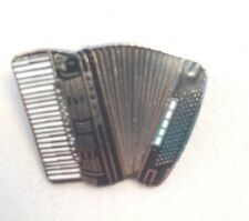 Mini Accordion Black Pin Brooch Badge Music Gift New Free Shipping AIM51A