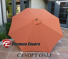 9ft Patio Garden Market Umbrella Replacement Canopy Cover 8 ribs Terra Cotta