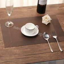 PVC Placemats Dining Room Placemats Dinner Table Heat Insulation Mat 4pcs best a