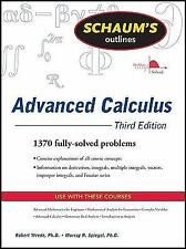 Advanced Calculus Schaums Outlines 3rd ed solutions college text Wrede FREE SHIP