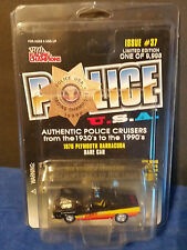 "Racing Champions 1970 Plymouth Barracuda ""Dare Car"" Police U.S.A. Issue # 37"