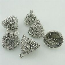 18221 15PCS Tibetan Silver 17.5mm Bell Shape Beads Cap End Pendant For Tassels