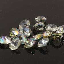"12 pieces Swarovski 8mm side hole ""Diamond shape"" Crystal beads E Hyaline green"