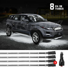 New Gen Under Car Truck SUV ATV Boat Underglow Tube Lights Wide Angle LED WHITE