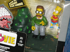 THE SIMPSONS:MOVIE - BART & FLANDERS- NEW !!! WITH SOUND ( MC FARLANE Toys )