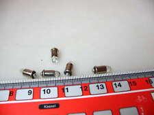 5 Stk LED-Leuchtmittel MS4,16-22 V kaltweiß Spur H0 #LED9