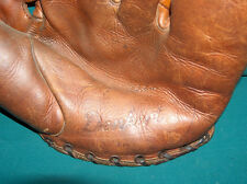 Antique vintage Denkert Tommy Holmes Personal Model baseball glove circa 1957
