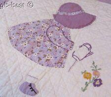 Spring Cottage c 30s Sunbonnet Sue QUILT pc Applique Vintage FRAME make pillow